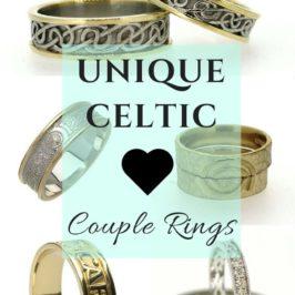 Unique Celtic Couple Rings