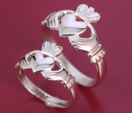Claddagh Ring Set. Stunning selection of unique Celtic couple rings