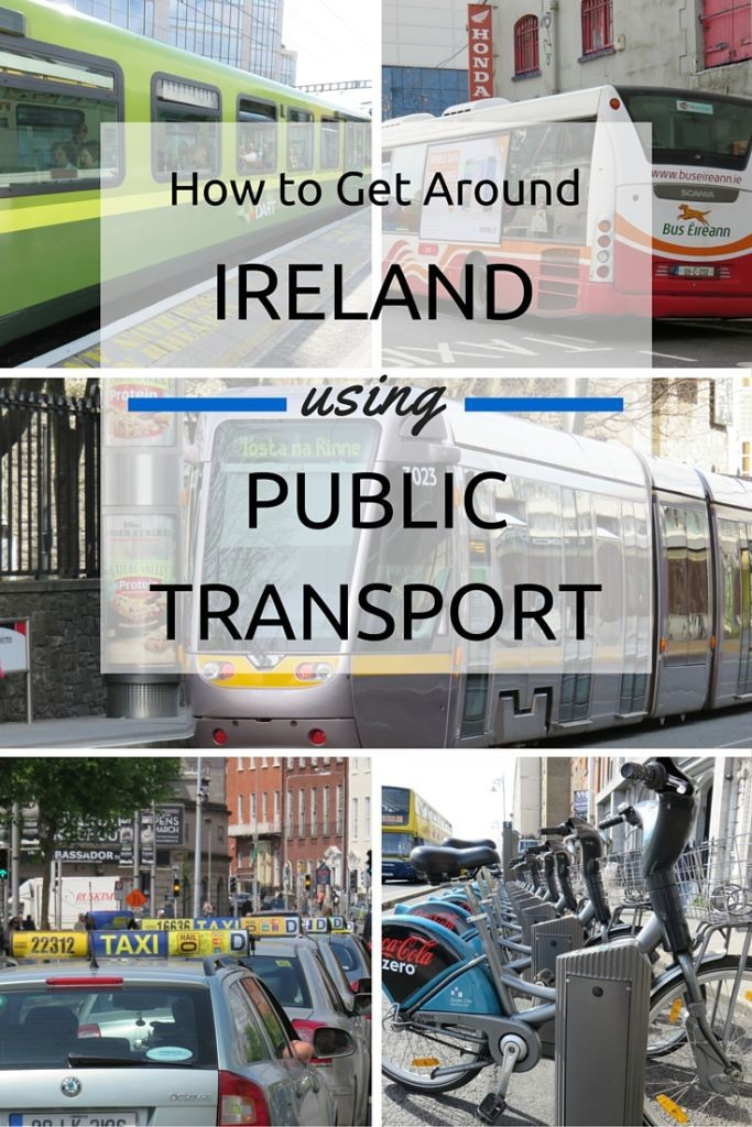 Find out how get around Ireland using public transport.