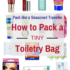 How to Pack an EXTRA Small Toiletry Bag