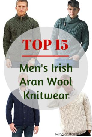 06226fda4e862 Top 15 men's Irish Aran 100% wool knitwear #merino #knitwear #irish #
