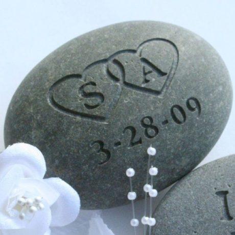 Personalised Oathing Stone. Irish wedding traditions.
