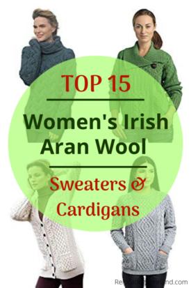 Top 15 Women's Irish Aran Merino Wool Sweaters and Cardigans